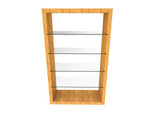 Wood Glass Shelf
