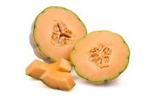 Tuscan Melon Sliced Open Isola...
