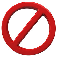 Do Not Red 3d Warning Sign