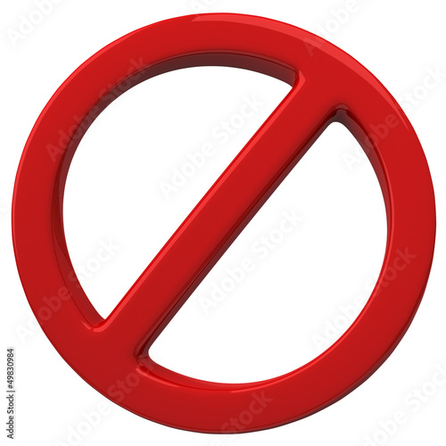 Do Not red 3d warning sign Wall mural