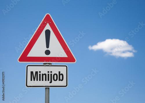 Papel de parede  Achtung Schild mit Wolke MINIJOB