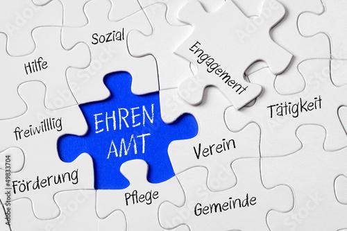 Obraz na plátně Ehrenamt