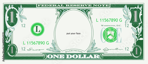Cuadros en Lienzo DOLLAR face