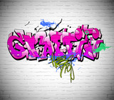 Fototapeta Teenage - Graffiti wall background, urban art
