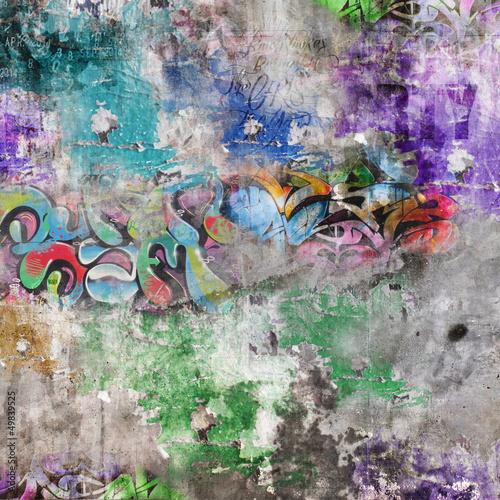 Obrazy z napisami grunge-scienny-tlo-graffiti