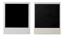 Polaroid Photo Frame Both Sides Isolated On White