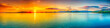 canvas print picture - Sunset panorama