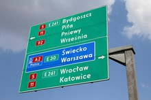 Road Sign In Poland