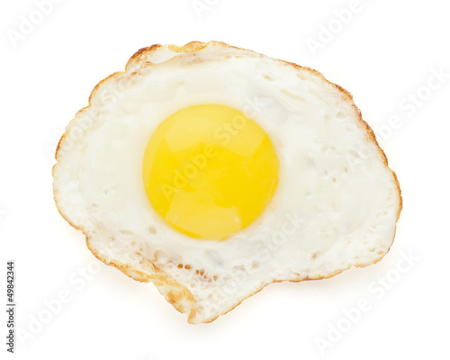 Poster Egg fried egg isolated