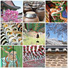 Collage Carré Corée Du Sud