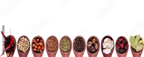 Foto op Plexiglas Kruiden Spice collection on white background