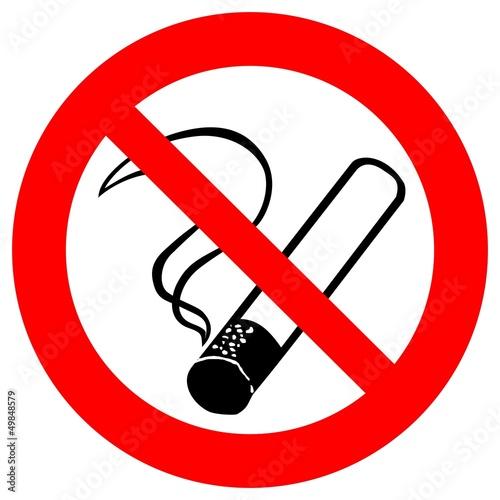 Fotobehang Rook Verbotszeichen - Rauchen verboten