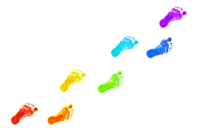 Baby Foot Prints All Colors Of The Rainbow.