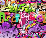 Fototapeta Młodzieżowe - Graffiti wall. Urban art vector background. Seamless texture
