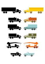 Zestaw Starych Ciężarówek N...