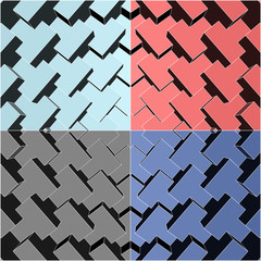 FototapetaUrban City Boxes Cube Four Colors Vector 178