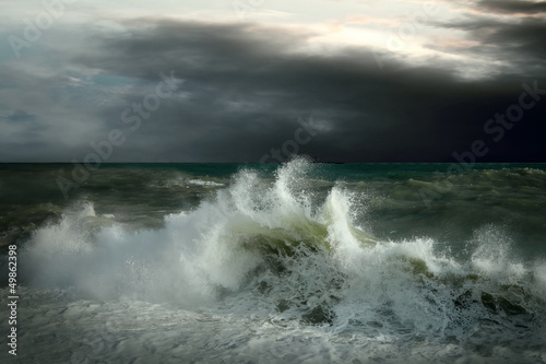 Foto op Canvas Onweer View of storm seascape