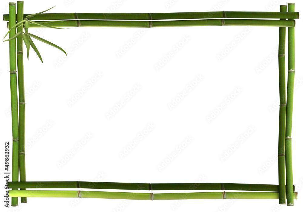 Bambusrahmen grün waage