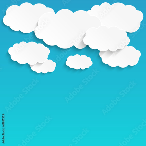 Printed kitchen splashbacks Heaven White paper clouds