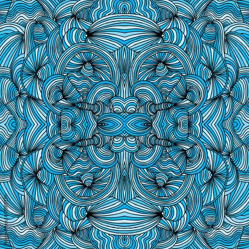 Photo  seamless wave pattern
