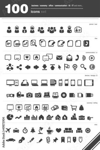 Fototapeta Zestaw ikon Icons set obraz