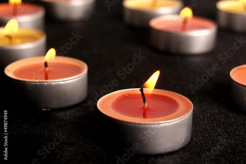 Akustikstoff - Rotes Teelicht (von angelo esslinger)