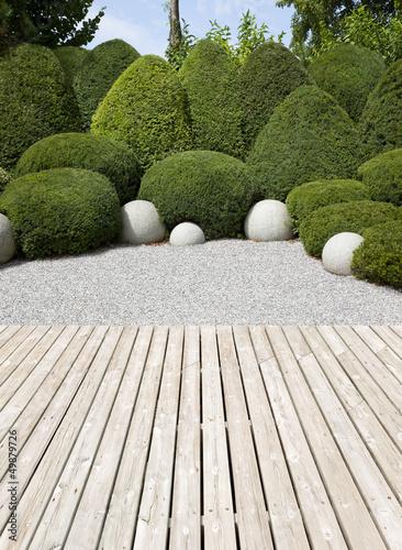 Papiers peints Jardin Garden terrace exotic