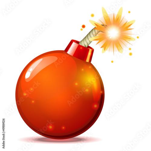 Fotografie, Obraz  Red hot bomb