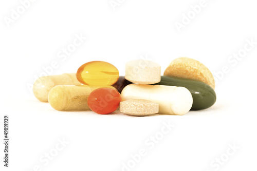 Fotografia  Mix of vitamin supplements