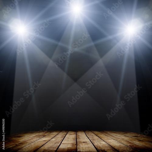 Foto op Canvas Licht, schaduw spotlight