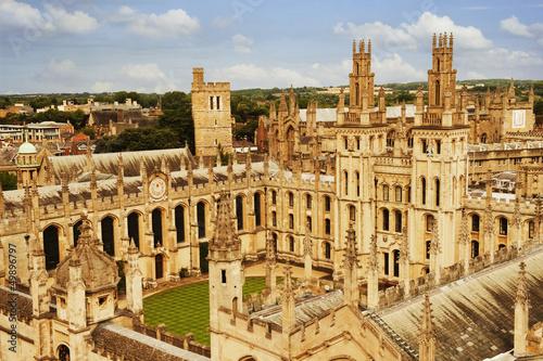 University buildings in a city, Oxford University, Oxford Wallpaper Mural