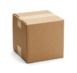 canvas print picture - Brown Cardboard Box