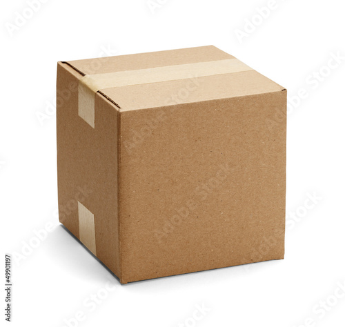 Slika na platnu Brown Cardboard Box