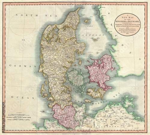 Платно Denmark old map