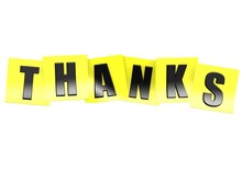 Thanks In Yellow Note
