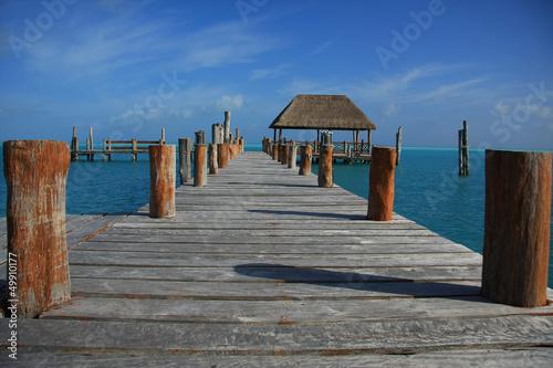 Fotobehang Pier Caribbean dock