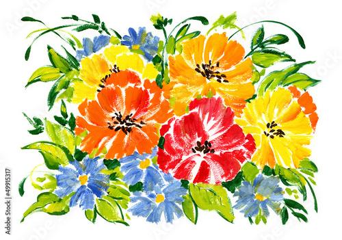 akwarela-bukiet-kwiatow-ogrodowych