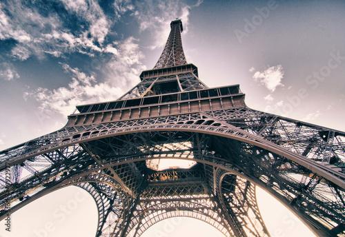 Poster Tour Eiffel Colors of Sky over Eiffel Tower, Paris