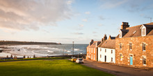 View Of The Bay From Cullen In North Scotland