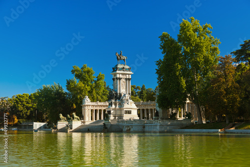 Photo Retiro Park in Madrid Spain