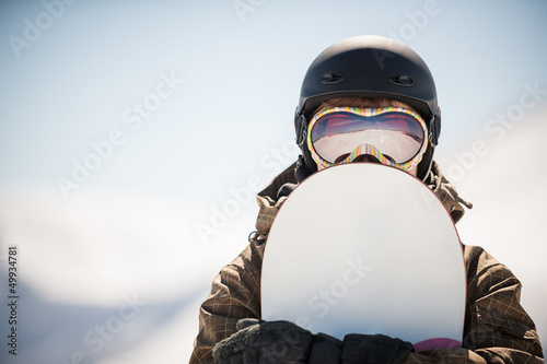 La pose en embrasure Glisse hiver snowboard and  snowboarder
