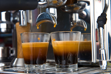 Panel Szklany Kawa espresso in glassware