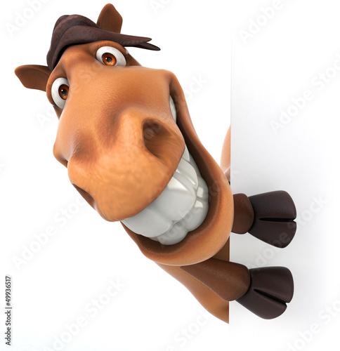 Papiers peints Ferme Fun horse