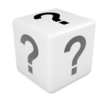 White dice with question mark