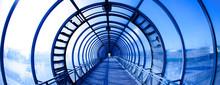 Interior Blue Tunnel