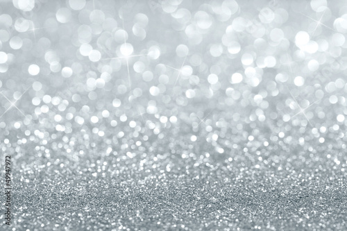 Shiny silver defocused background with copy space