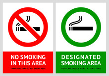 No Smoking And Smoking Area La...