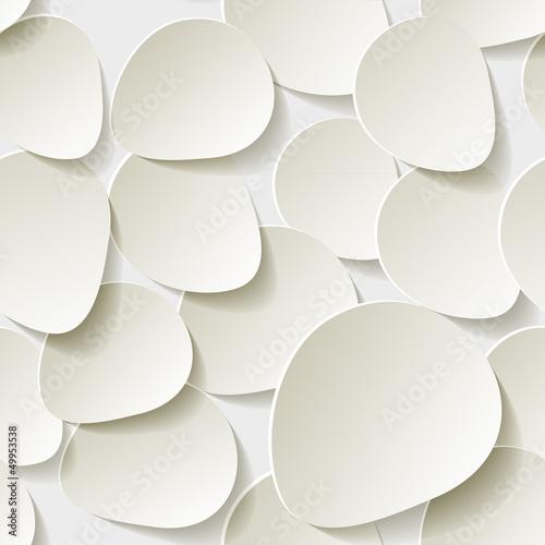 Weißen Rosen Blättern Hintergrund Pattern