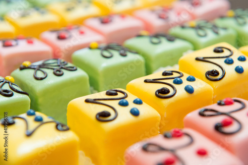 Fotografie, Obraz  colorful Petit fours for the party