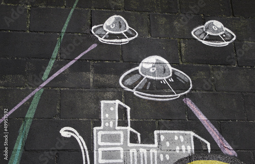 Alien invasion Poster Mural XXL